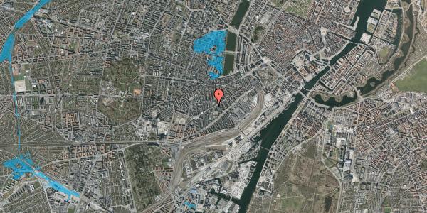 Oversvømmelsesrisiko fra vandløb på Istedgade 100, st. tv, 1650 København V