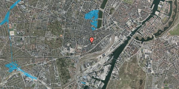 Oversvømmelsesrisiko fra vandløb på Istedgade 101, 2. th, 1650 København V
