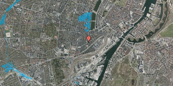 Oversvømmelsesrisiko fra vandløb på Istedgade 102, 3. tv, 1650 København V