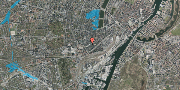 Oversvømmelsesrisiko fra vandløb på Istedgade 105, st. 3, 1650 København V