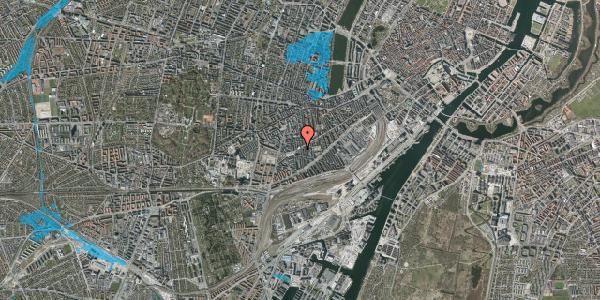 Oversvømmelsesrisiko fra vandløb på Istedgade 105, 2. th, 1650 København V
