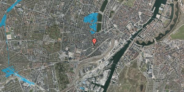 Oversvømmelsesrisiko fra vandløb på Istedgade 106, 1. th, 1650 København V