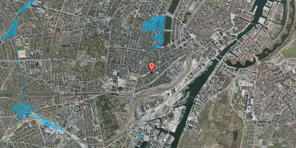 Oversvømmelsesrisiko fra vandløb på Istedgade 109, 5. tv, 1650 København V