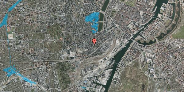Oversvømmelsesrisiko fra vandløb på Istedgade 116, 2. th, 1650 København V