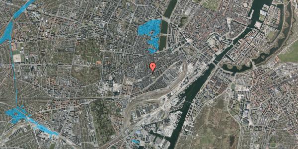 Oversvømmelsesrisiko fra vandløb på Istedgade 118, 3. , 1650 København V