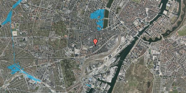 Oversvømmelsesrisiko fra vandløb på Istedgade 121, 1. th, 1650 København V