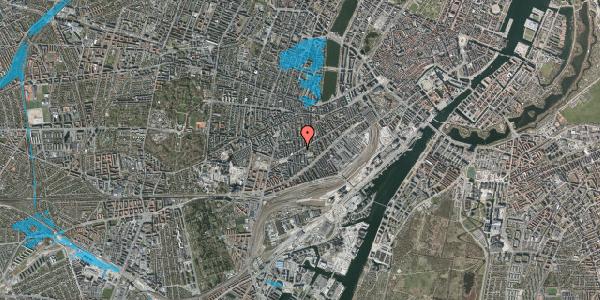Oversvømmelsesrisiko fra vandløb på Istedgade 124, 1. th, 1650 København V