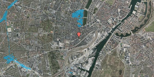 Oversvømmelsesrisiko fra vandløb på Istedgade 126, 3. tv, 1650 København V