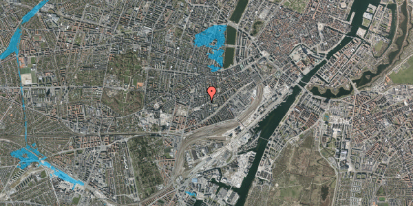Oversvømmelsesrisiko fra vandløb på Istedgade 128, 4. th, 1650 København V