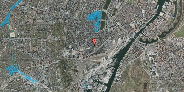 Oversvømmelsesrisiko fra vandløb på Istedgade 132, 1. tv, 1650 København V