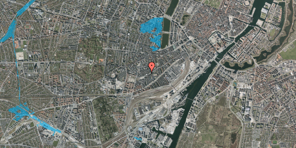 Oversvømmelsesrisiko fra vandløb på Istedgade 132, 3. tv, 1650 København V