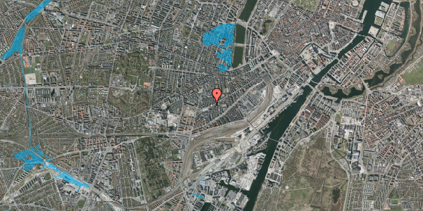 Oversvømmelsesrisiko fra vandløb på Istedgade 136, 2. th, 1650 København V