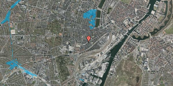 Oversvømmelsesrisiko fra vandløb på Istedgade 138, st. 3, 1650 København V