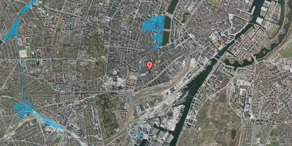 Oversvømmelsesrisiko fra vandløb på Istedgade 140, st. 1, 1650 København V