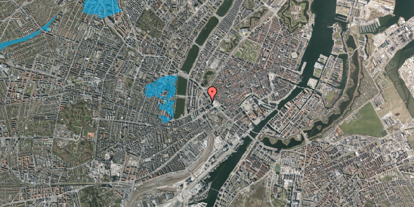 Oversvømmelsesrisiko fra vandløb på Jernbanegade 4A, 2. th, 1608 København V