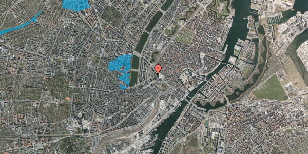 Oversvømmelsesrisiko fra vandløb på Jernbanegade 6, 4. tv, 1608 København V
