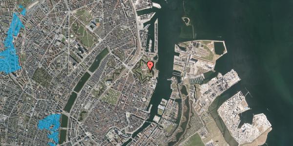 Oversvømmelsesrisiko fra vandløb på Kastellet 2, 2100 København Ø