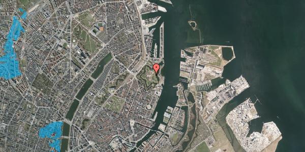 Oversvømmelsesrisiko fra vandløb på Kastellet 13A, 1. , 2100 København Ø