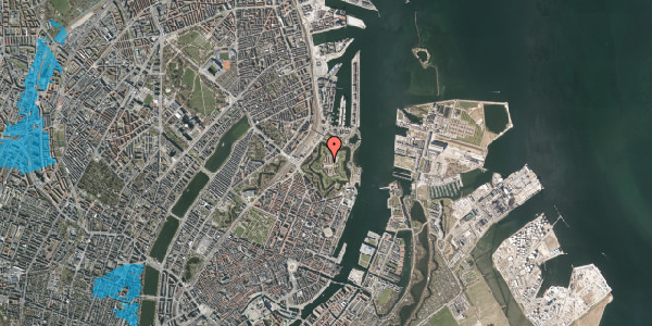Oversvømmelsesrisiko fra vandløb på Kastellet 54, 2. 322, 2100 København Ø
