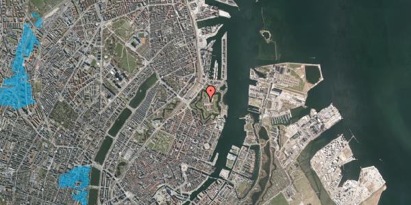 Oversvømmelsesrisiko fra vandløb på Kastellet 54, 2. 344, 2100 København Ø