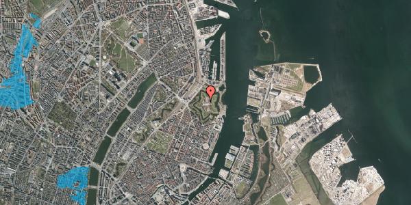 Oversvømmelsesrisiko fra vandløb på Kastellet 62, 1. 203, 2100 København Ø