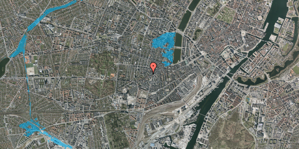 Oversvømmelsesrisiko fra vandløb på Kingosgade 3, 3. th, 1623 København V