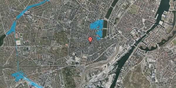 Oversvømmelsesrisiko fra vandløb på Kingosgade 7, 2. th, 1623 København V