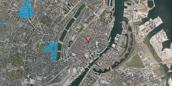 Oversvømmelsesrisiko fra vandløb på Klareboderne 1, 1115 København K
