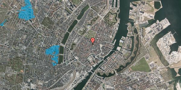 Oversvømmelsesrisiko fra vandløb på Klareboderne 16, kl. , 1115 København K