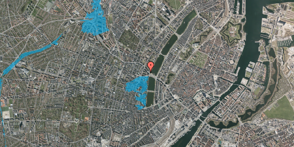 Oversvømmelsesrisiko fra vandløb på Kleinsgade 1, st. 1, 1633 København V