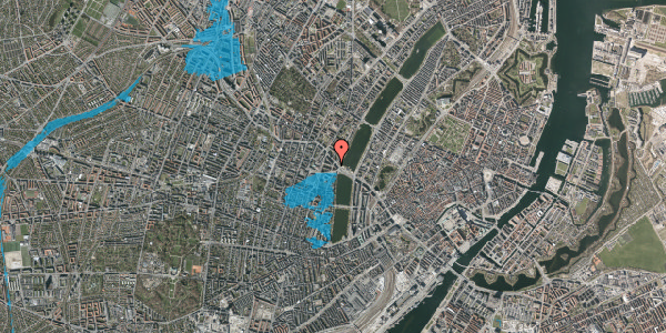 Oversvømmelsesrisiko fra vandløb på Kleinsgade 1, 4. 2, 1633 København V
