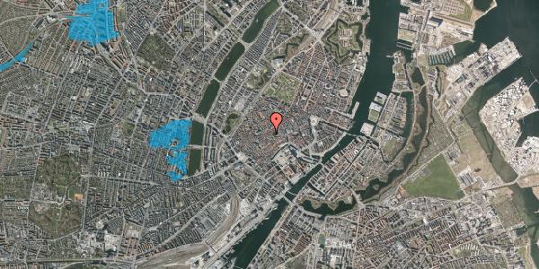 Oversvømmelsesrisiko fra vandløb på Klosterstræde 13, 1. , 1157 København K