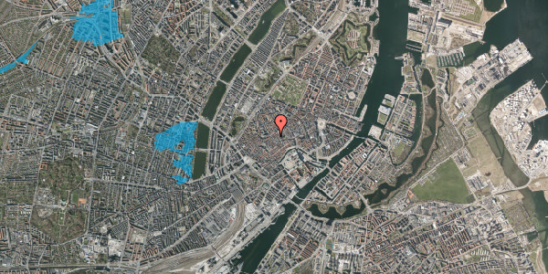 Oversvømmelsesrisiko fra vandløb på Klosterstræde 21A, 1. , 1157 København K