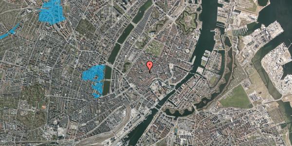 Oversvømmelsesrisiko fra vandløb på Klosterstræde 21A, 3. , 1157 København K