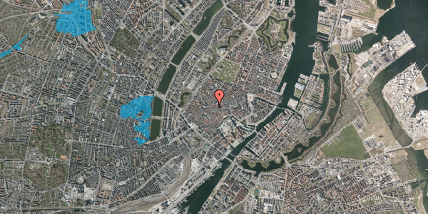 Oversvømmelsesrisiko fra vandløb på Klosterstræde 21, 4. , 1157 København K