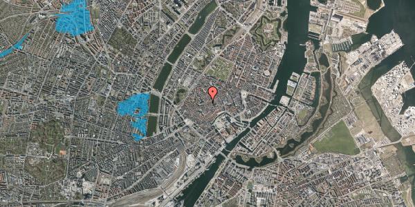 Oversvømmelsesrisiko fra vandløb på Klosterstræde 23A, 1. , 1157 København K