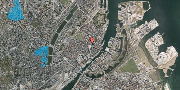 Oversvømmelsesrisiko fra vandløb på Kongens Nytorv 8, 3. , 1050 København K