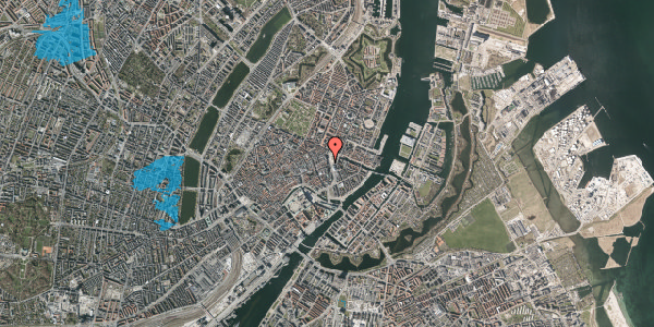 Oversvømmelsesrisiko fra vandløb på Kongens Nytorv 21, st. tv, 1050 København K