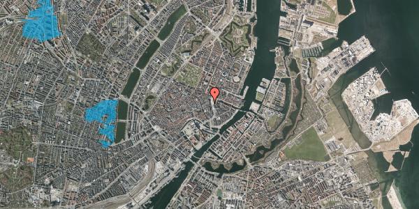 Oversvømmelsesrisiko fra vandløb på Kongens Nytorv 21, st. 1, 1050 København K