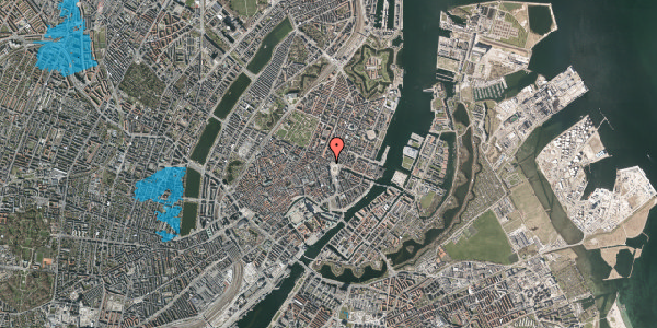Oversvømmelsesrisiko fra vandløb på Kongens Nytorv 28, 1. , 1050 København K