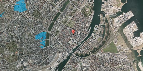 Oversvømmelsesrisiko fra vandløb på Købmagergade 3A, st. 1, 1150 København K