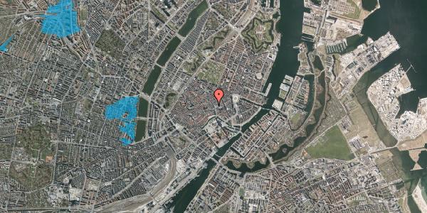 Oversvømmelsesrisiko fra vandløb på Købmagergade 5, 3. 2, 1150 København K