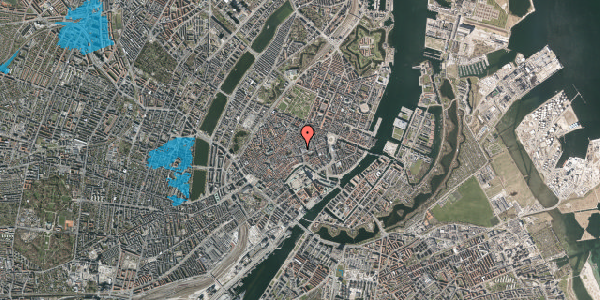 Oversvømmelsesrisiko fra vandløb på Købmagergade 7, 1. , 1150 København K