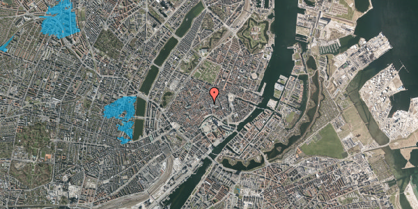Oversvømmelsesrisiko fra vandløb på Købmagergade 9, st. 1, 1150 København K