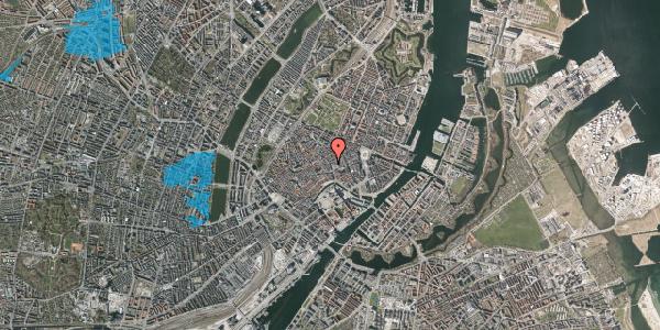 Oversvømmelsesrisiko fra vandløb på Købmagergade 9, st. 3, 1150 København K