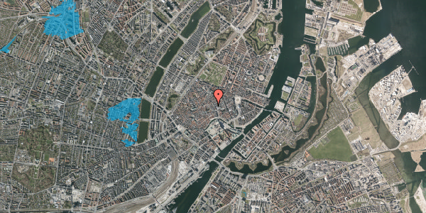Oversvømmelsesrisiko fra vandløb på Købmagergade 13A, st. th, 1150 København K