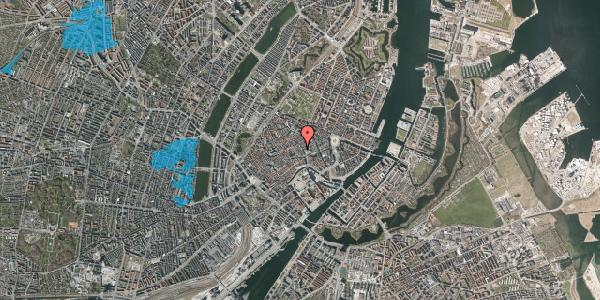 Oversvømmelsesrisiko fra vandløb på Købmagergade 13A, 1. th, 1150 København K