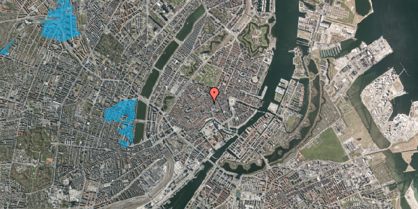 Oversvømmelsesrisiko fra vandløb på Købmagergade 28, 3. , 1150 København K
