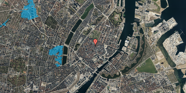 Oversvømmelsesrisiko fra vandløb på Købmagergade 39, 2. , 1150 København K
