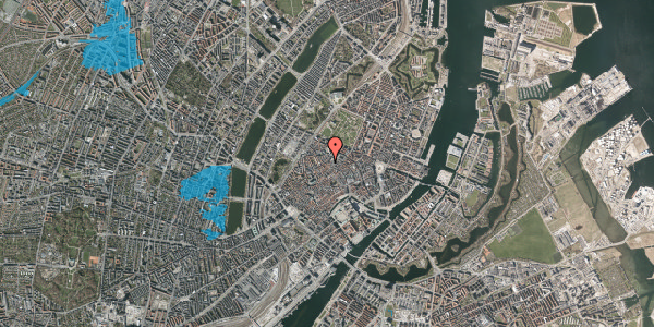 Oversvømmelsesrisiko fra vandløb på Købmagergade 52A, 4. , 1150 København K